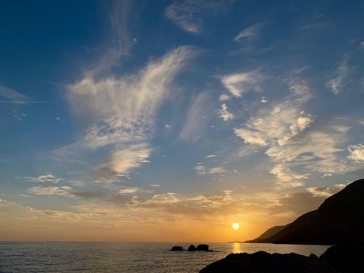 Sunset Near Vrisi Beach