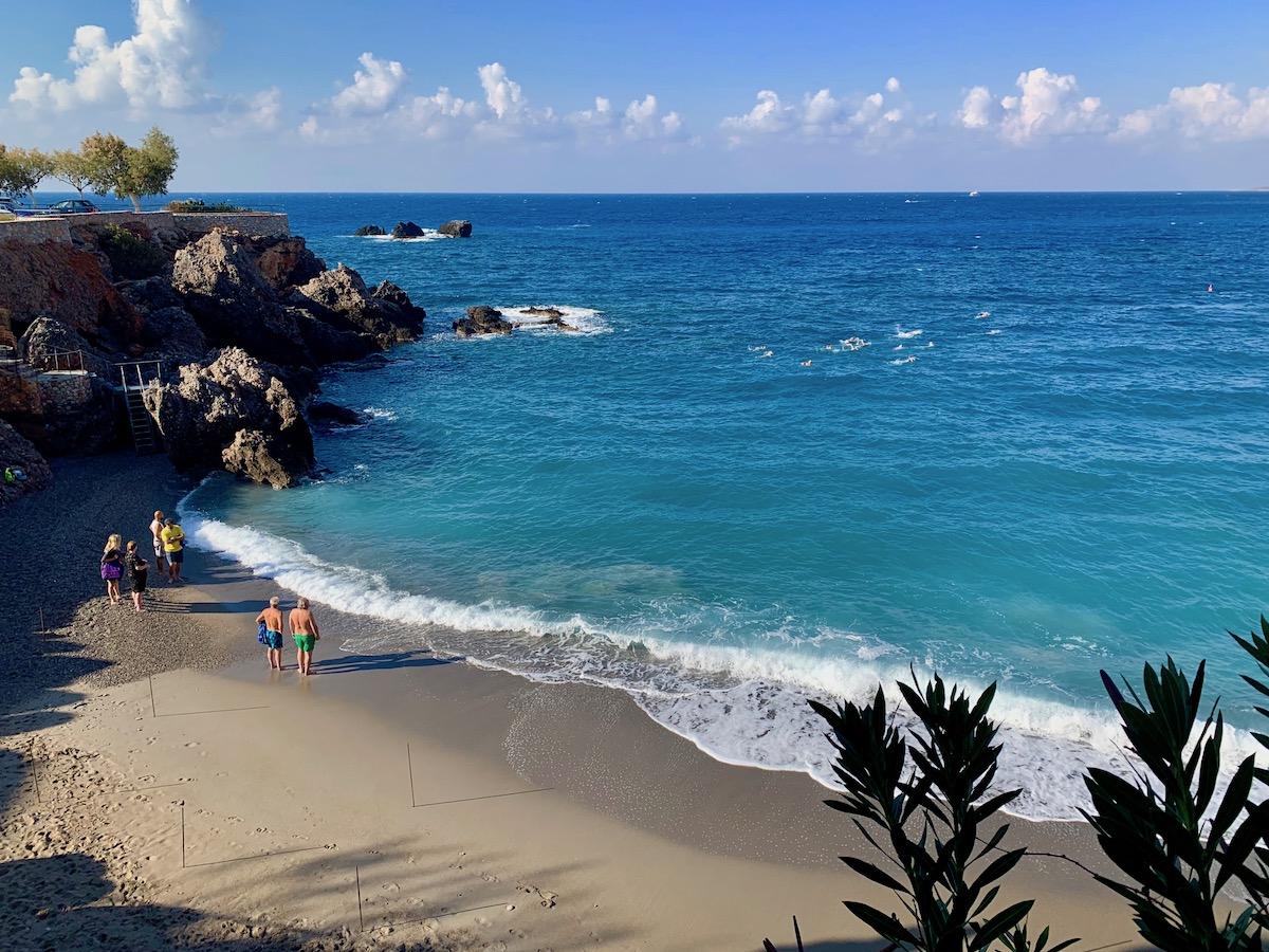 Vrisi Beach Morning Swim